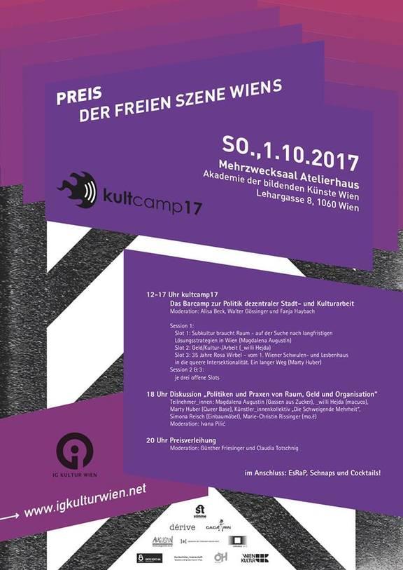 Kultcamp17 & Preis der freien Szene Wiens