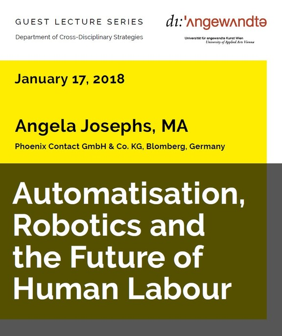Angela Josephs: Automatisation, Robotics, and the Future of Human Labour