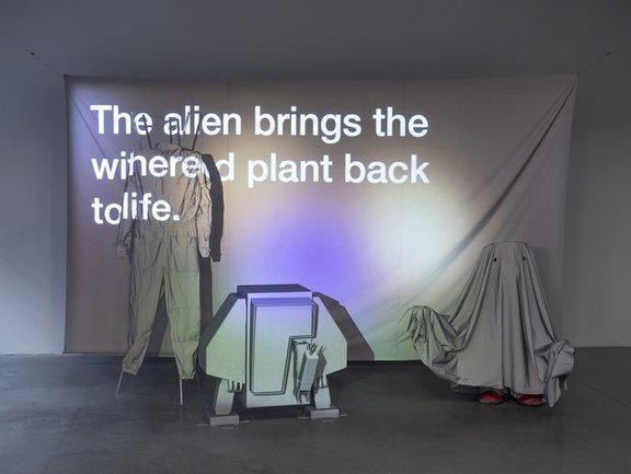 Ralo Mayer, Scenes & Refrains from Extra-Terrestrial Ecologie, 2017 (Videostill)? Ralo Mayer/Bildrecht Wien, 2017