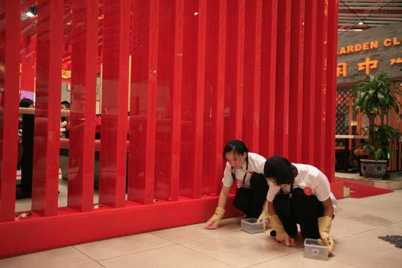"""Still: """"Beijing"""", 2008 35mm/HD ? Sarah Morris, Courtesy White Cube"""