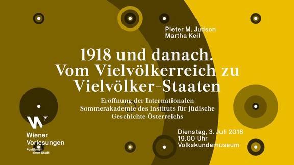 Wiener Vorlesung: 1918 und danach