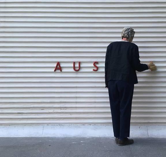 Buchstaben-Demo, Austrian-Pavilion, Venedig 2017, ? Zollamt