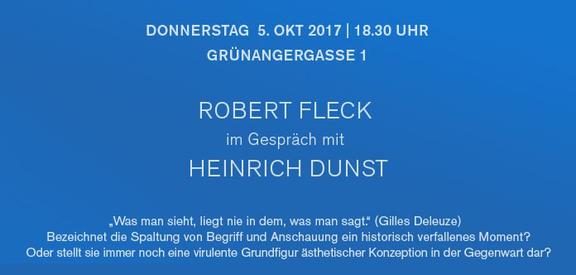 curated by_: Robert Fleck im Gespräch mit Heinrich Dunst