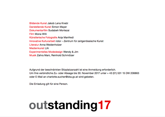 outstanding artist awards 2017