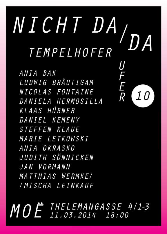 Moe Contemporary: Atelier Tempelhofer Ufer, Nicht da / da I
