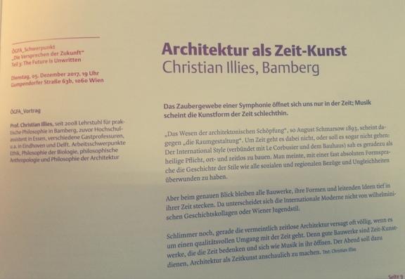 ÖGFA_Vortrag: Christian Illies - Architektur als Zeit-Kunst