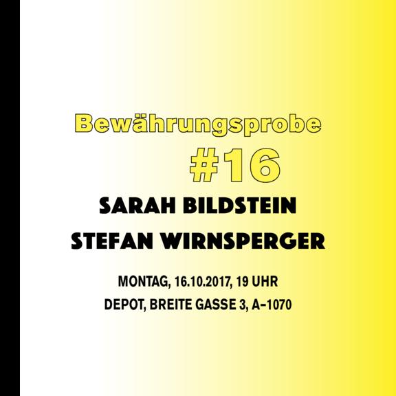 Bewährungsprobe #16: Stefan Wirnsperger und Sarah Bildstein