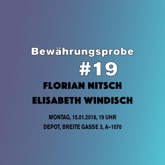Bewährungsprobe#19: Florian Nitsch und Elisabeth Windisch