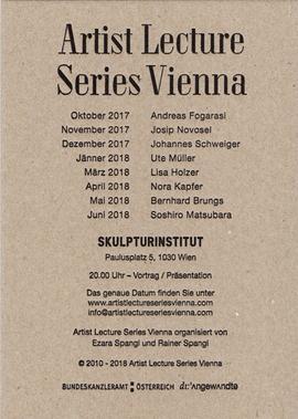 Artist Lecture Series Vienna präsentiert Andreas Fogarasi
