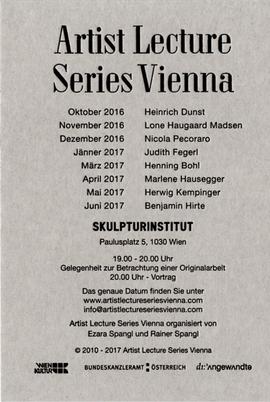Artist Lecture Series Vienna präsentiert Herwig Kempinger