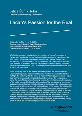 Kunsttheorie: Lacan's Passion for the Real