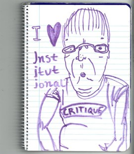 I <3 institutional critique, Maitane Midby, 2018, drawing on paper