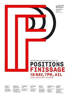IoA Sliver Lecture Series: Positions Finissage