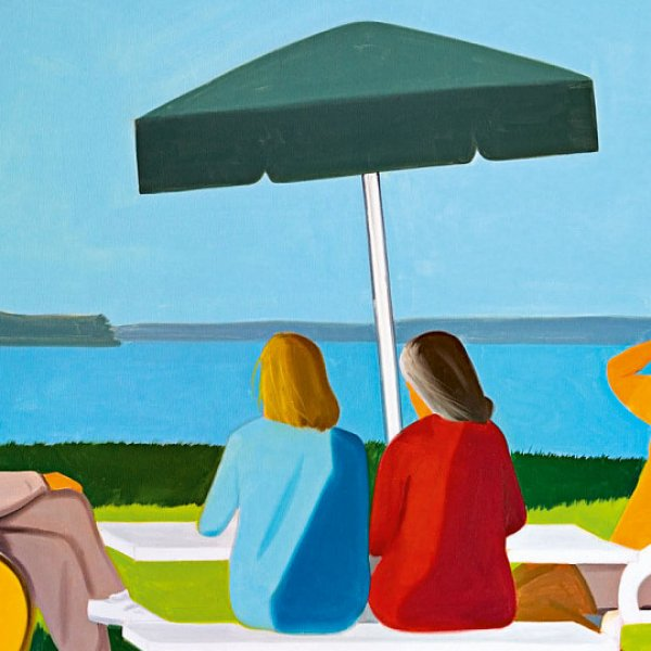 Alex Katz | Beach Stop, 2001 | Öl auf Leinwand | ALBERTINA, Wien – The ESSL Collection | © Foto: Mischa Nawrata, Wien | Bildrecht, Wien, 2020