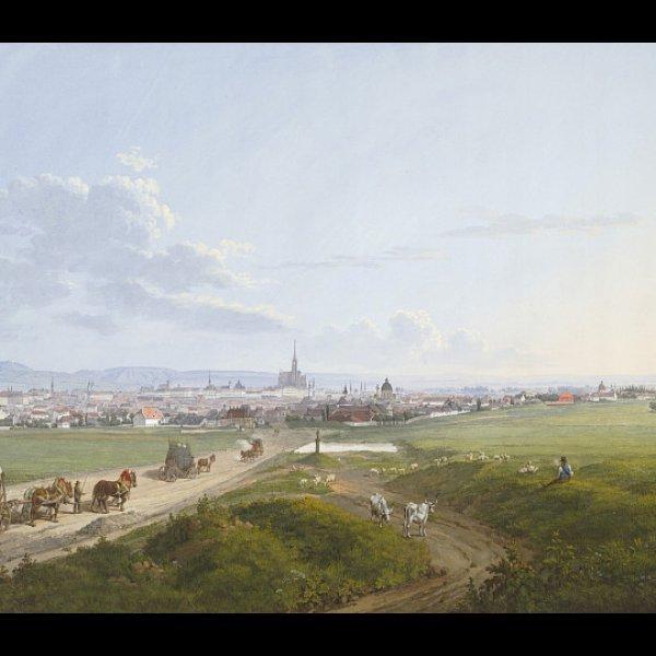 Jakob Alt   Blick auf Wien von der Spinnerin am Kreuz, 1817   Albertina, Wien