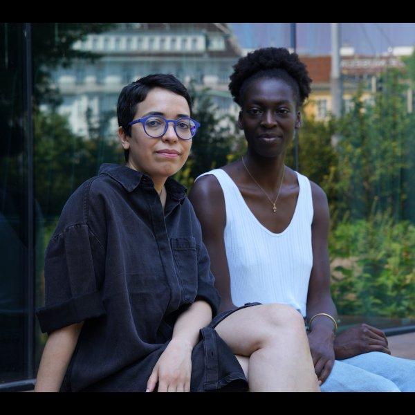 Abiona Esther Ojo (Akademie der bildenden Künste Wien) und Huda Takriti