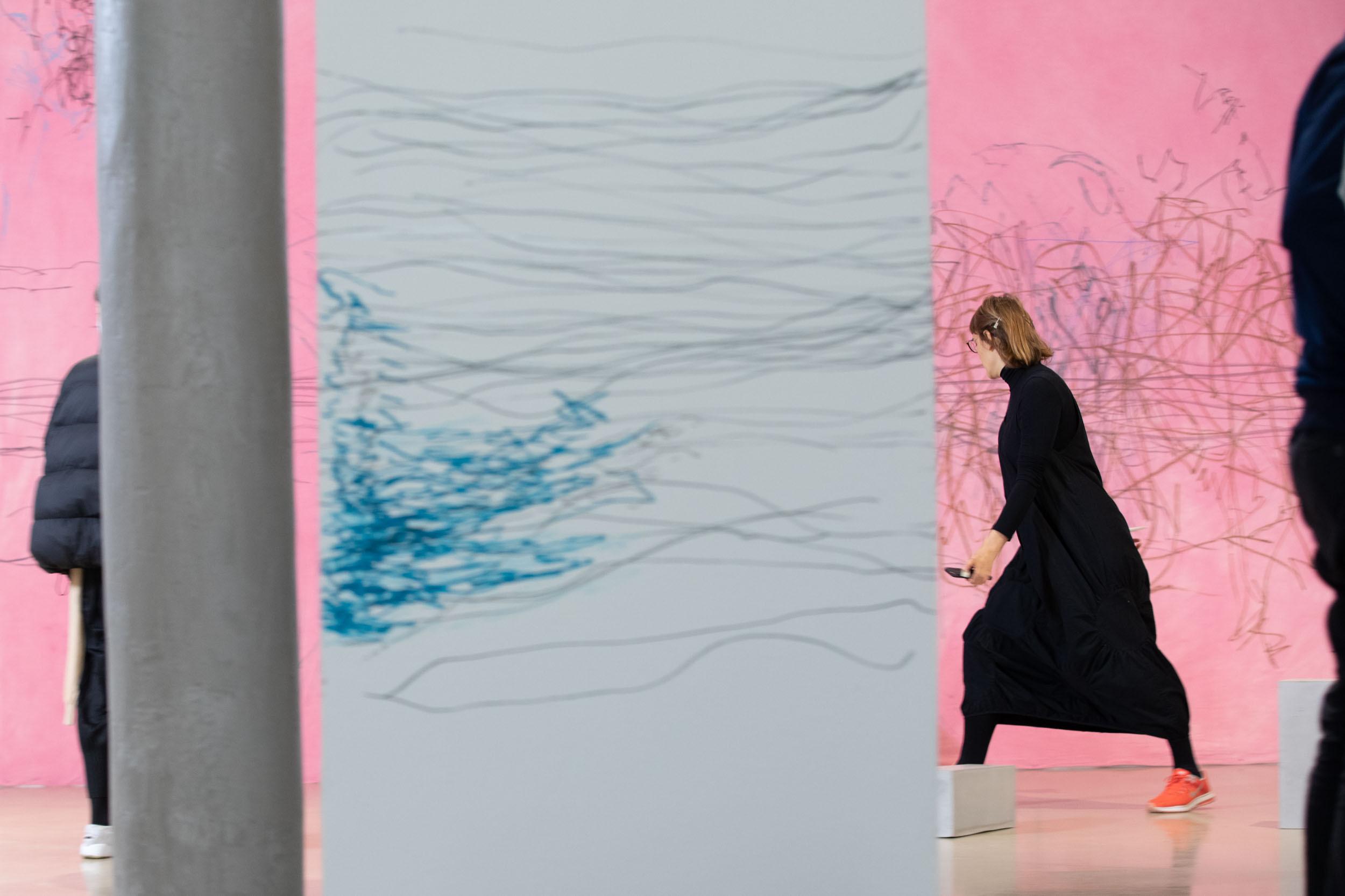 eSeL Foto: Sweet Sixteen: Fanni Futterknecht – Power to the Unspoken_Echoes of Resistance (16.4.2021, Video-Rehearsal @ Kunstraum Niederösterreich)