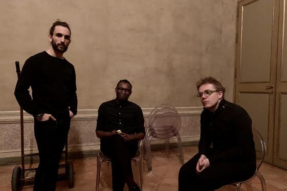 Jürgen Pollheimer, Fiston Mwanza Mujila, Patrick Dunst. Foto: benderschulz