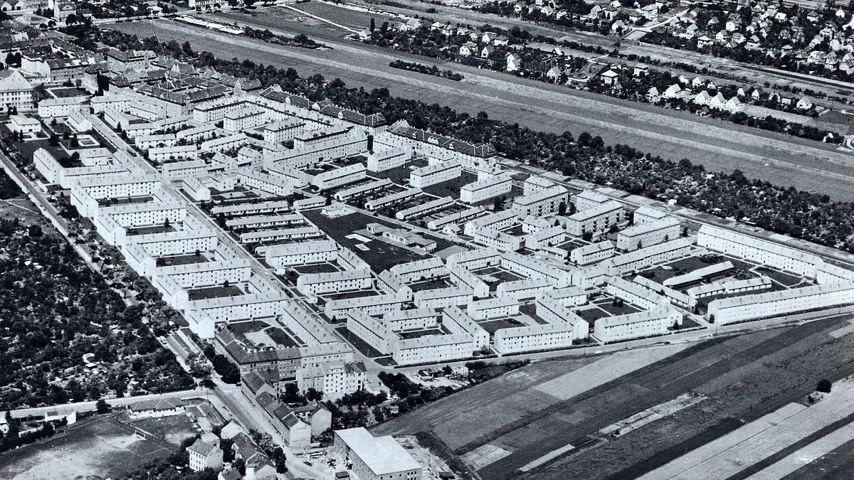 Siedlung Siemensstraße, Schrägluftaufnahme, 1956, Foto: Wiener Stadt- und Landesarchiv