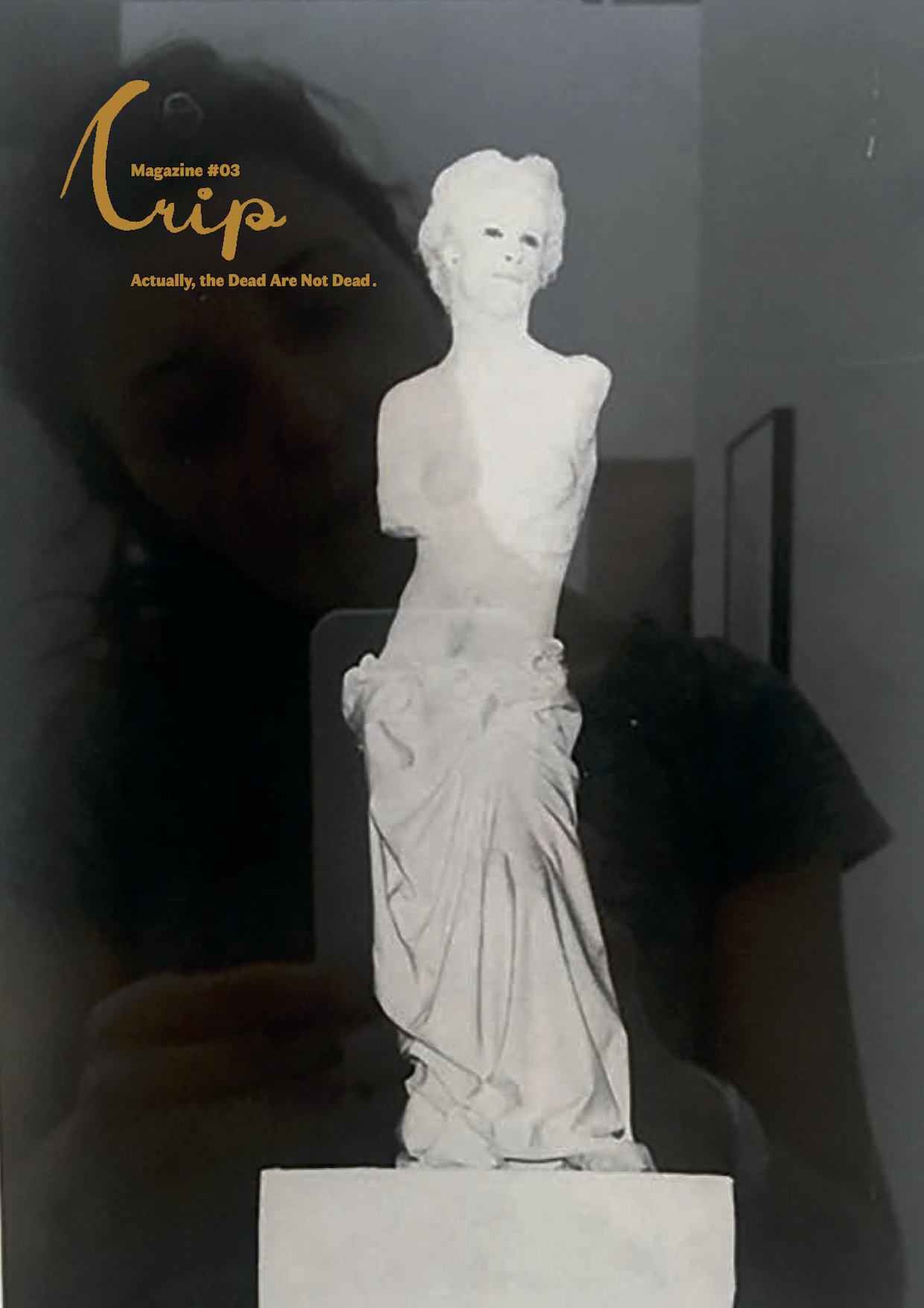 Image Credits: Cover of Crip Magazine #3 Actually, the Dead Are Not Dead: Lorenza Böttner performing Venus de Milo, Snapshot by Eva Egermann in the Exhibition Requiem to the Norm, Württembergischer Kunstverein, 2019