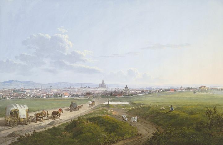 Jakob Alt | Blick auf Wien von der Spinnerin am Kreuz, 1817 | Albertina, Wien
