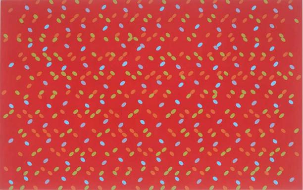 Larry Poons, Nixe's Mate, 1961, mumok – Museum moderner Kunst Stiftung Ludwig Wien, Leihgabe der Österreichischen Ludwig-Stiftung, © Bildrecht Wien, 2020