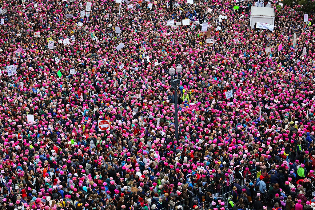View of the Women's March from the roof of the Voice of America Building, January 21, 2017 © Voice of America
